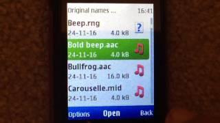 Original Names of Nokia Alert Tones (played on Nokia X2-00)