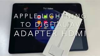 Apple Lightning to Digital AV Adapter - przejściówka HDMI do iPada / iPhona
