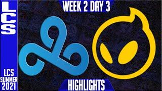 C9 vs DIG Highlights   LCS Summer 2021 W2D3   Cloud9 vs Dignitas