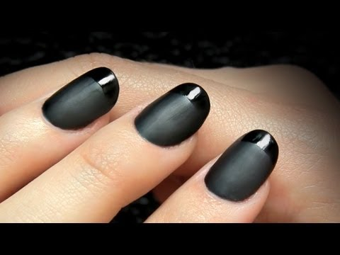 French manicure with black polish – Great photo blog about manicure 2017
