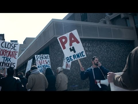 Erie PA March for Bernie - Revolution (Beatles Cover) - Falling Hollywood