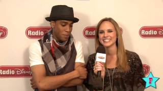 Camp Rock 2 Stars Meaghan Martin and Mdot Finley at Radio Disney