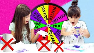 Mystery Wheel Of No Bowl, No Spoon Slime Challenge!
