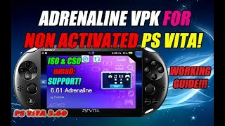 ADRENALINE FOR NON ACTIVATED PS VITA! Supports PSX, ISO, CSO uma0: Micro SD Card!