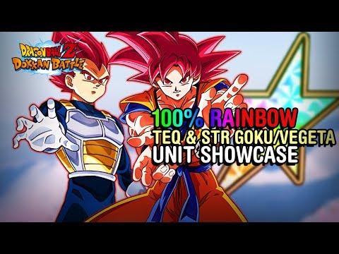 GODS ON GODS! 100% STR & TEQ SSG Vegeta/Goku Showcase!   DBZ Dokkan Battle