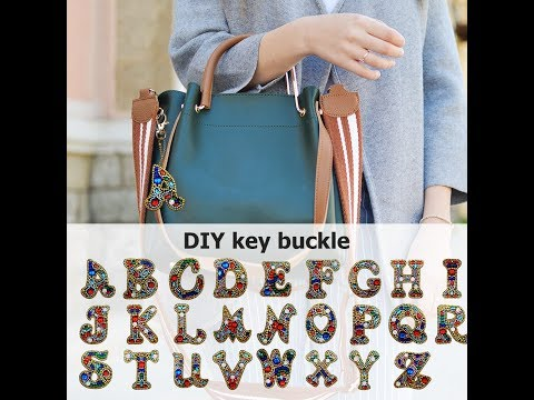 Cesdeals | 26 Letters DIY Name Creative Keychain Gift