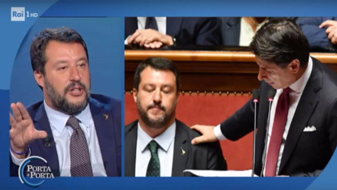 """Matteo Salvini su Conte: """"Se ti facevo così schifo... potevi ..."""