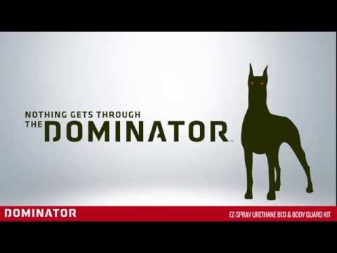 Shake. Spray. Dominator. How to apply Dominator truck bed liner image