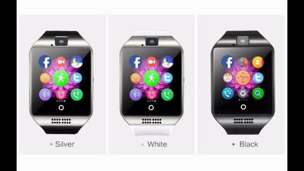 Wlngwear Q18 Passometer Smart Watch With Touch Screen Camera Tf Card