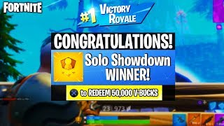 *EASIEST* WAY to WIN SOLO SHOWDOWN MATCHES in FORTNITE! - WIN FREE V-BUCKS for PLAYING FORTNITE!