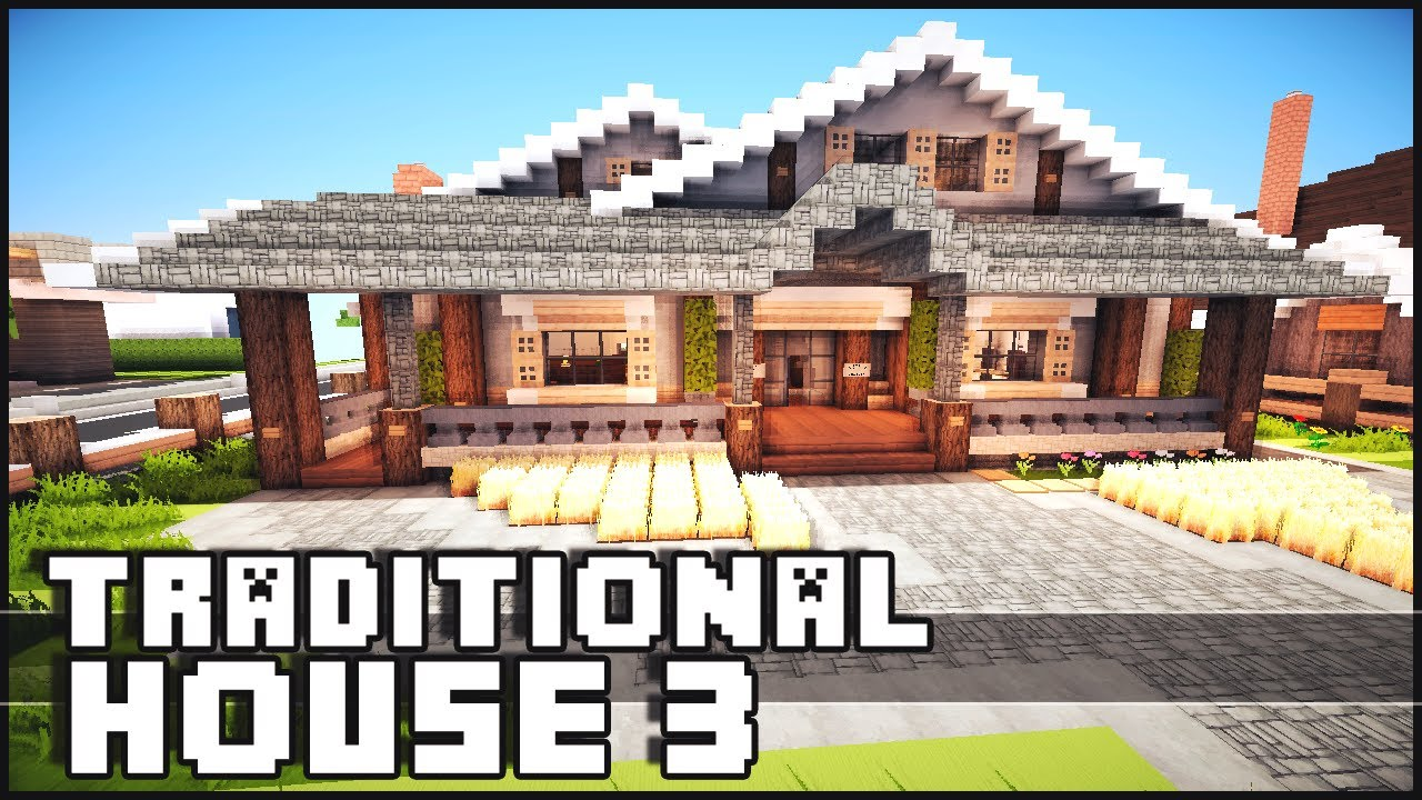 Minecraft traditional house 3 youtube for Keralis modern house 9 part 1