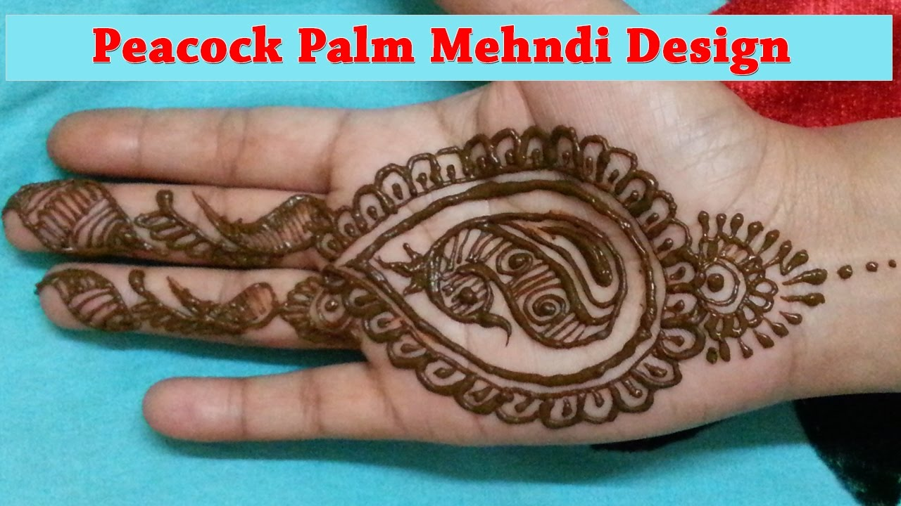Mehndi Peacock Tattoos : Palm peacock mehndi design latest