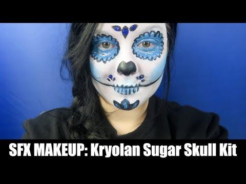 SFX Makeup: das Kryolan Sugar Skull Kit! - YouTube