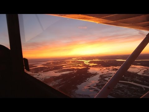 Epic Sunset Flight over Charleston in vintage 1957 Piper Tri-Pacer Airplane