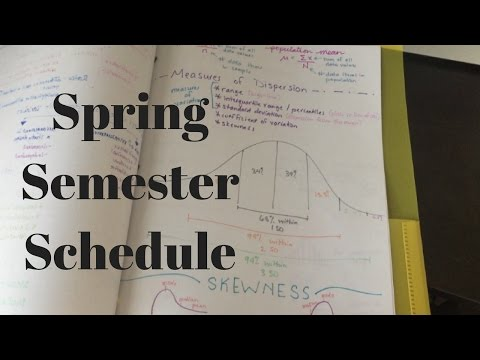 Pharmacy School Vlog | My Second Semester Schedule