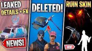Exclusive Skins Deleted, Ruin Skin & Pickaxe, Respawn Van NEWS and Details! (Fortnite News)