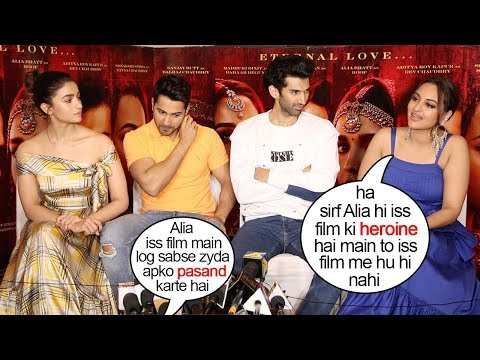 Sonkashi Sinha's JEALOUS Reaction When Reporter gives more attention to Alia Bhat promoting Kalank