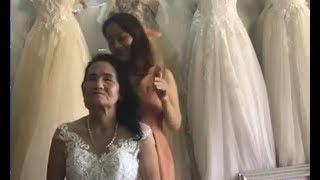 Sự thực đằng sau clip cụ bà U70 thử váy cưới gây bão MXH