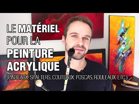quel mat riel pour la peinture acrylique pinceaux couteaux spalters rouleaux etc youtube. Black Bedroom Furniture Sets. Home Design Ideas