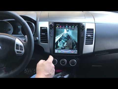 Штатная магнитола Mitsubishi Outlander XL 2005-2012 - Tesla Style Android 8.1