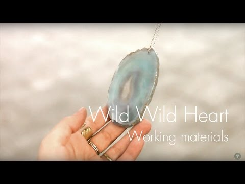 Working process: Materials | Handmade nature inspired jewelry by WWH
