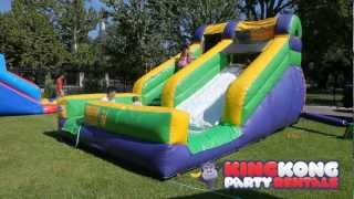 12ft Water Slide with Pool - Houston Moonwalk WaterSlide Rentals