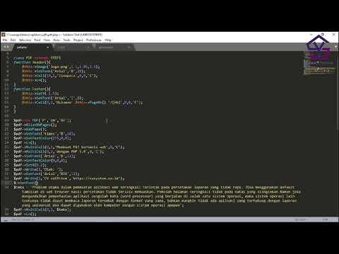 Membuat Report PDF Dengan Library FPDF Di PHP Bag 13 - Menambahkan Link Ke Internet