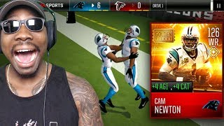 126 OVR GOLDEN TICKET CAM NEWTON AT WIDE RECEIVER! Madden Mobile 18 Gameplay Pack Opening Ep. 57
