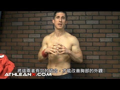 在家改善胸部外觀的徒手訓練 (中文字幕)