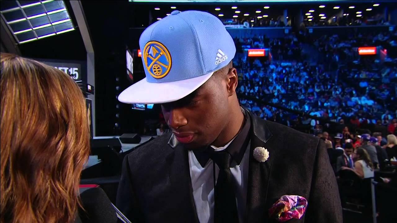 8914cbd8c3b13 Nuggets Select Emmanuel Mudiay 7th in 2015 NBA Draft - YouTube