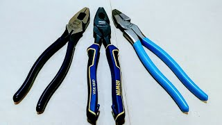 Who Makes The BEST Linesman's Pliers? Klein vs Channellock vs Irwin (NWS)