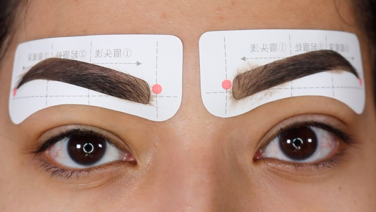picture relating to Printable Eyebrow Stencil identified as Straightforward HOWTO: Choose THE Suitable EYEBROWS! Sticker Stencil Eyebrows! - Alexisjayda