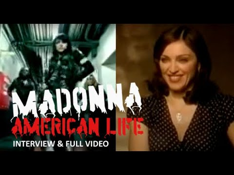 Madonna - Rare & Full Australian Interview, Including withdrawn American Life video (2003)