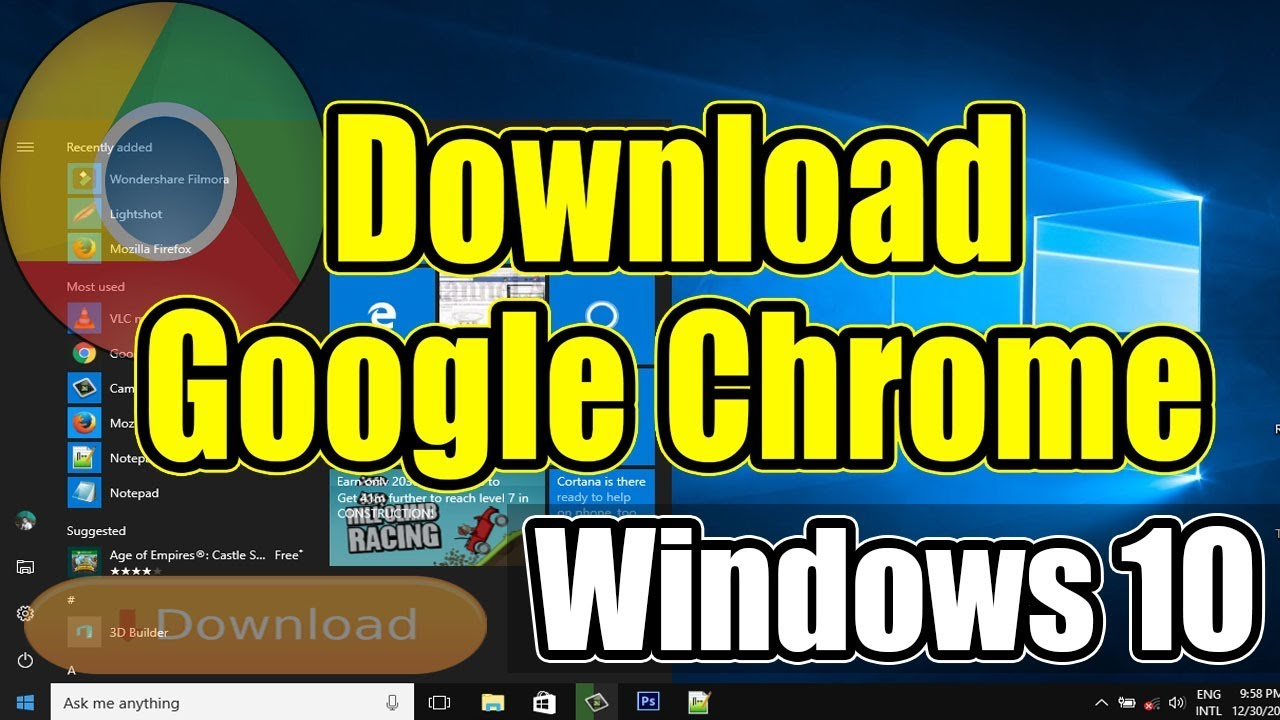 How To Download And Install Google Chrome On Windows 10 - Download Google  Chrome