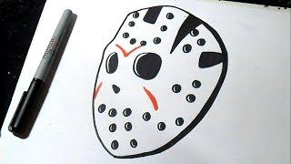 как рисовать  Джейсон маска | Граффити(Рисование Джейсон маска Граффити музыка (Audiomicro.com), 2014-10-15T06:13:52.000Z)
