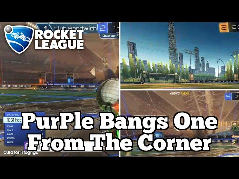 Daily Rocket League Moments: PurPle Bangs One From The Corner thumbnail