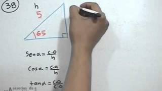Distancia que forma una escalera en una pared vertical