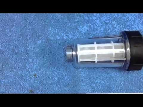 Pressure Washer Inline Clear Water Cleanable Filter 3 4