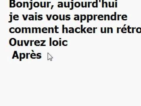 Hacker un rétro [DEBUTANT]