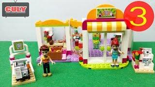 Ráp hoàn thành Lego Friend siêu thị phần 3/3 cửa hàng thức ăn building food super market toy for kid