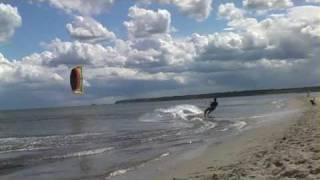 KiteRewa.pl -  06.2009, kitebording - training freestyle, Rewa