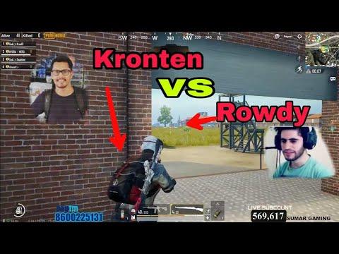 Kronten Gaming Vs Rowdy Gaming  || Good Fight By Rowdy