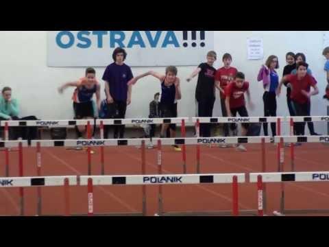 Lukas Martinak (60m hurdles -9,22) slow motion