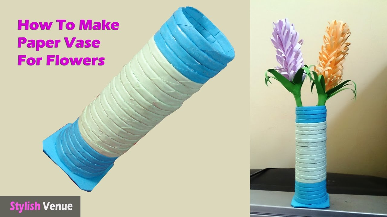 How to make paper vase for flowers youtube how to make paper vase for flowers reviewsmspy
