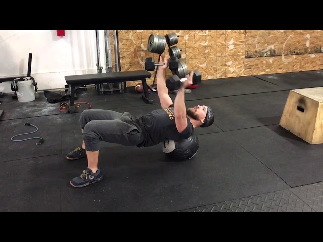 DB Chest Fly on Ball