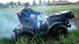 mini kirowiec kiroviec  Fortschritt ciągnik ogrodniczy Tz 4K/14A sulino test w mokrym terenie cz3