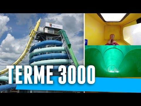 Epic Water Slides at Terme 3000, Slovenia (Tobogani)