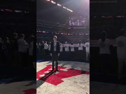 McNallyTV:  Finn Sagal sings national anthem at Colts game