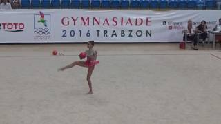 Ecem Cankaya ball Gymnasiade 2016 Trabzon