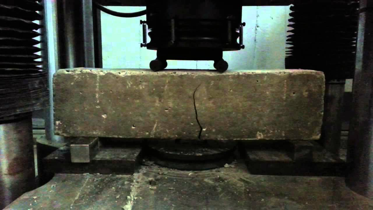 Flexure Test And Shear Test Of Concrete Youtube